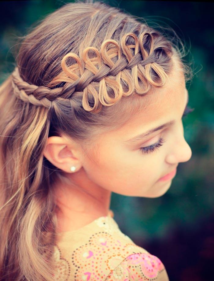 Модные прически для девочек на длинные